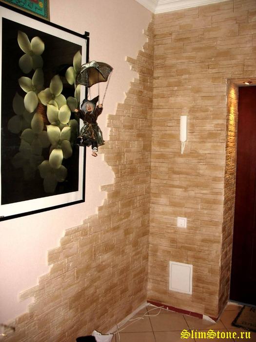 Отделка стен коридора плиткой фото 3