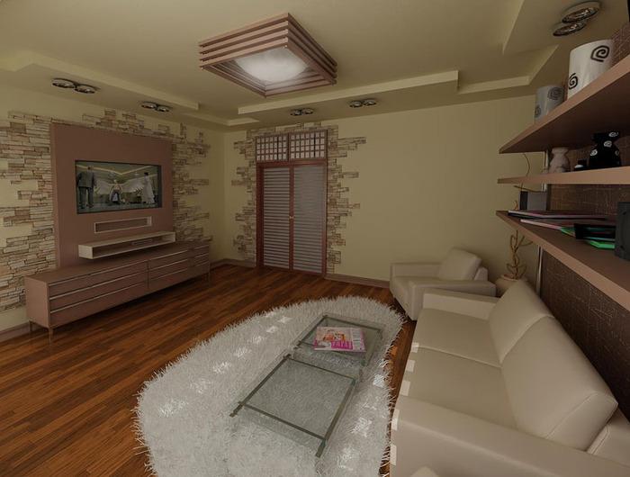 Дизайн комнаты с использованием декоративного кирпича
