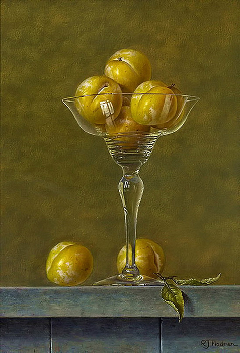 Yellow Plums in a Glass, oil on panel (477x700, 278Kb)