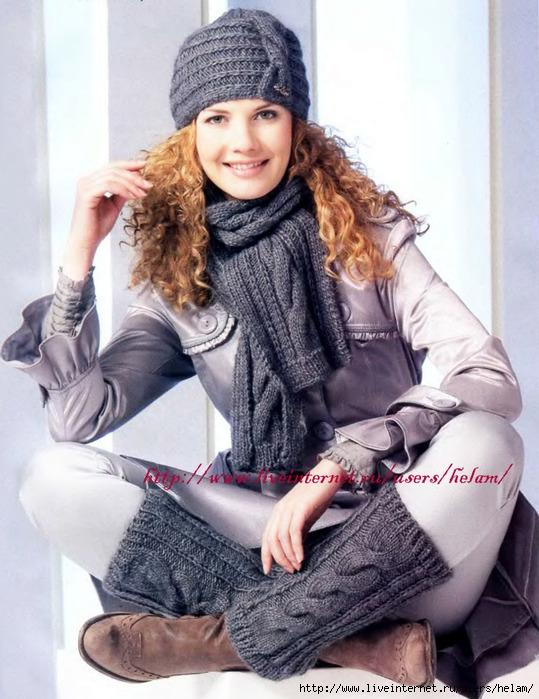 Комплект вязание на спицах