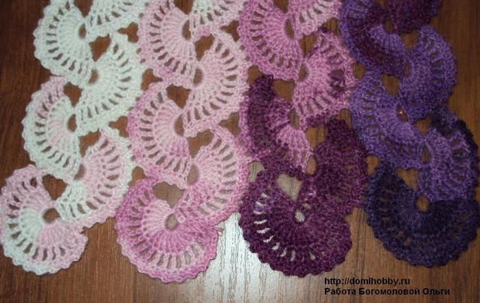 Схема вязания шарфа: