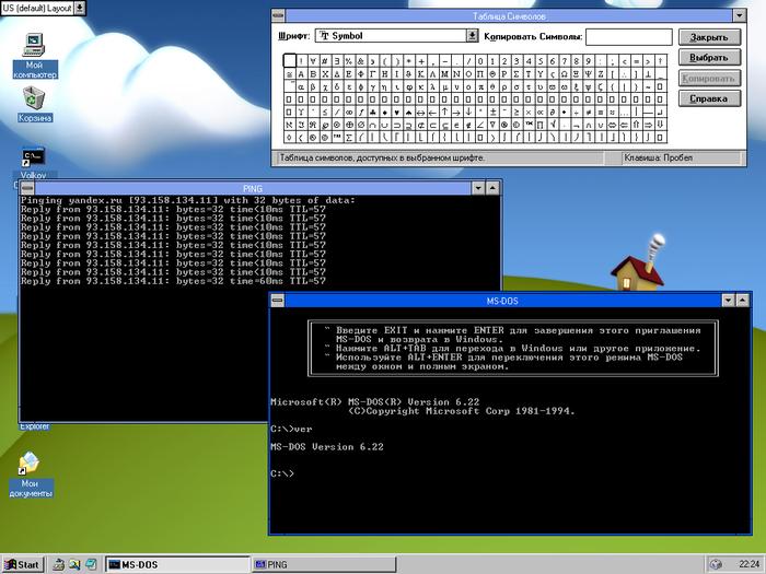 Консольные утилиты работают. Правда, PING замораживается если активирован DOS