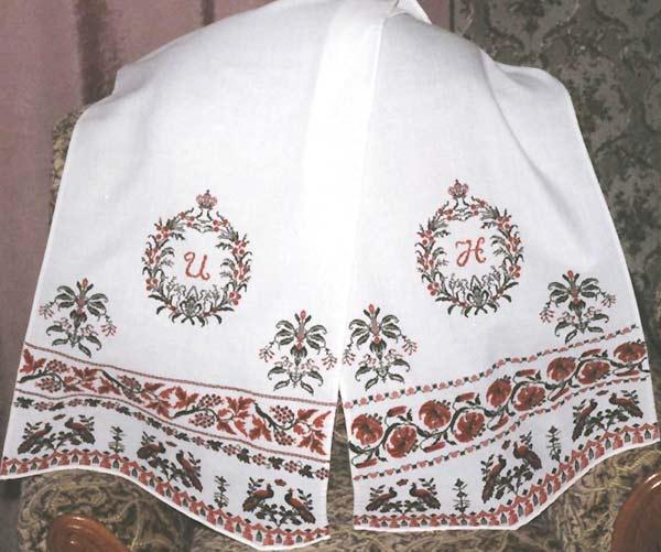 zabka Представляю свадебный рушник.  Вышит под конкретную свдьбу, конкретных людей.Полотенце имеет две разные стороны...