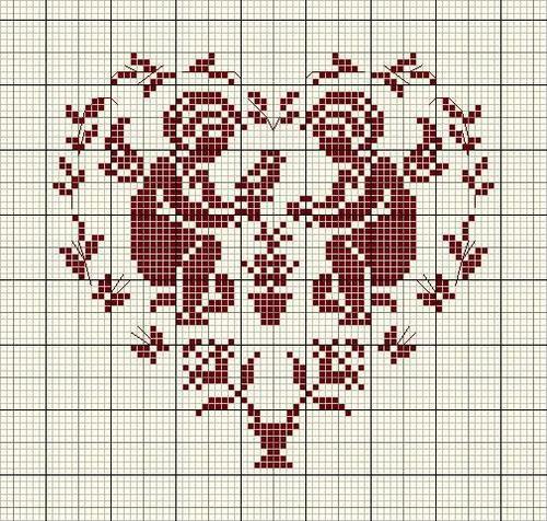 схемы вышивки крестом (