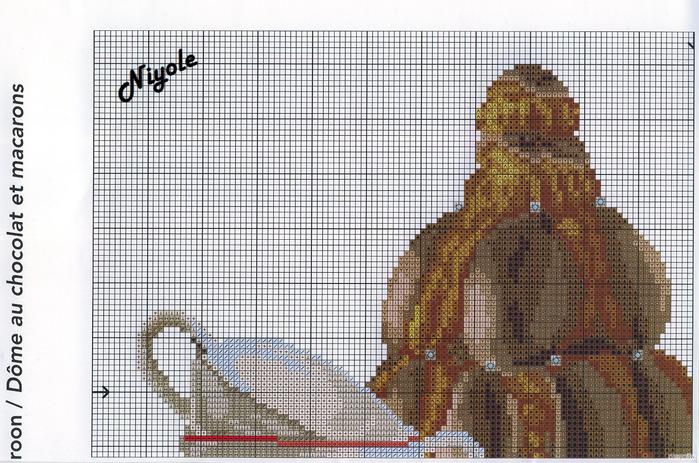 Схема вышивки крестом шоколадная ночь 660