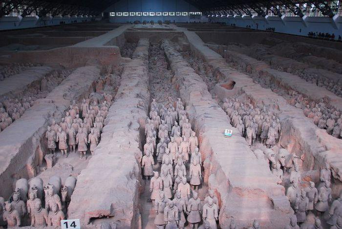 Терракотовая армия первого императора Китая в Сиане 59469