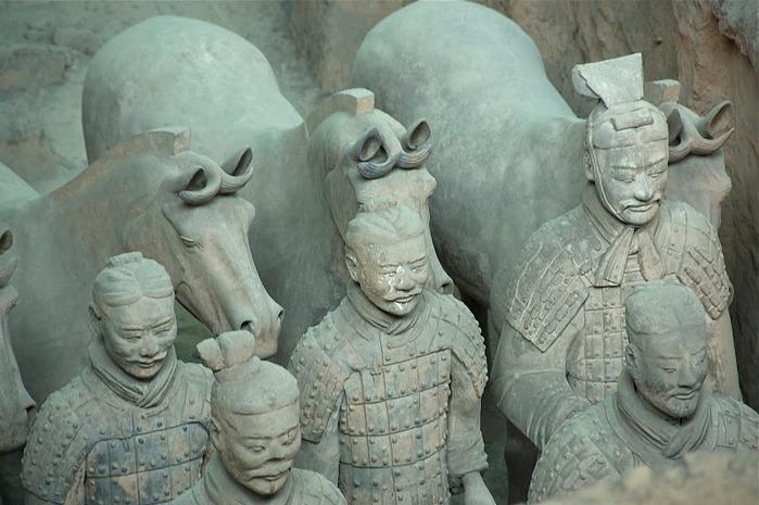 Терракотовая армия первого императора Китая в Сиане 13406