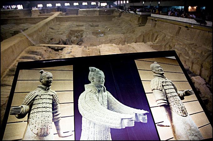 Терракотовая армия первого императора Китая в Сиане 46178