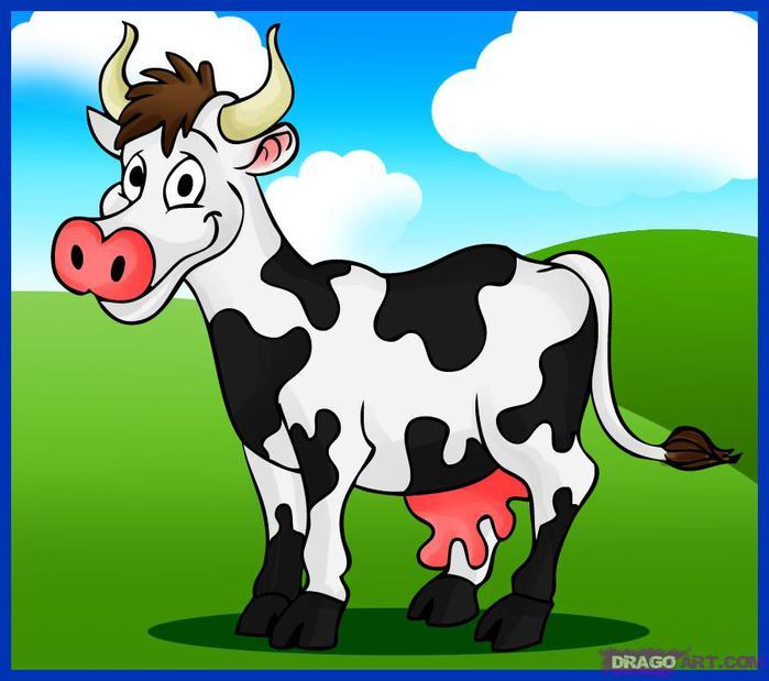 Картинки корова рисовать
