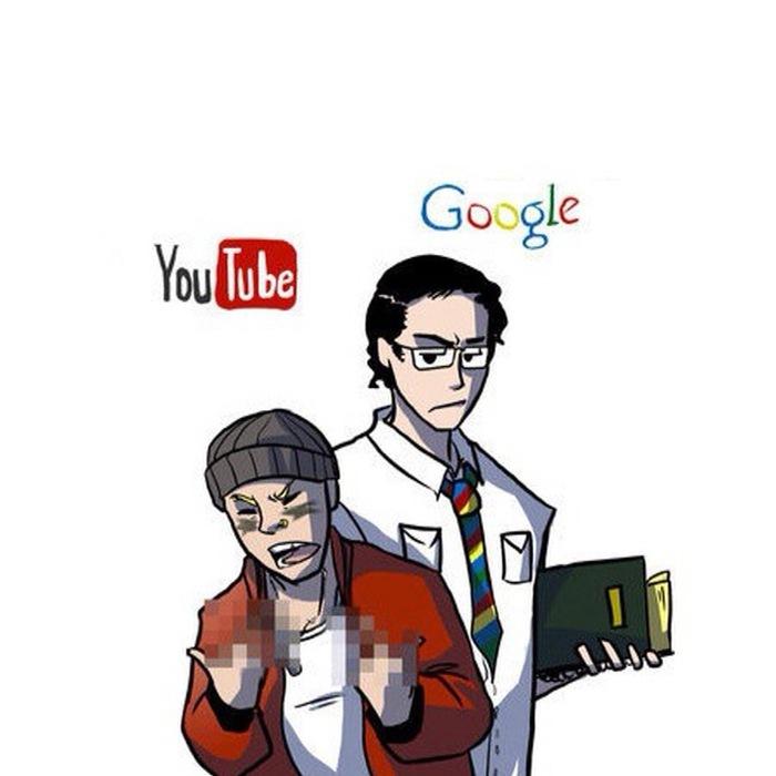 Ютюби с гуглом