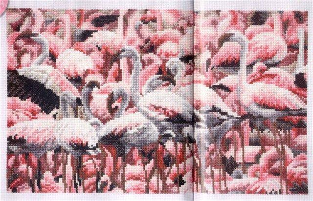 """""""Фламинго"""" Схема вышивки"""