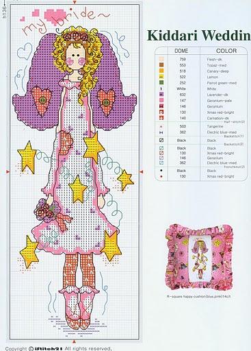 1. Не много интересной вышивки.  3 харизматичных Ангела со схемой вышивки и идеей декора до конечного изделия.