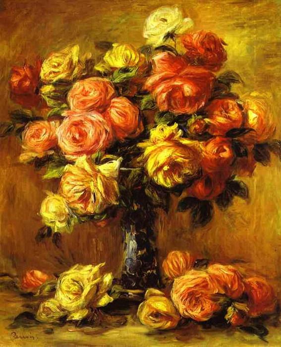 Pierre-Auguste Renoir - Roses in a Vase (567x700, 132Kb)