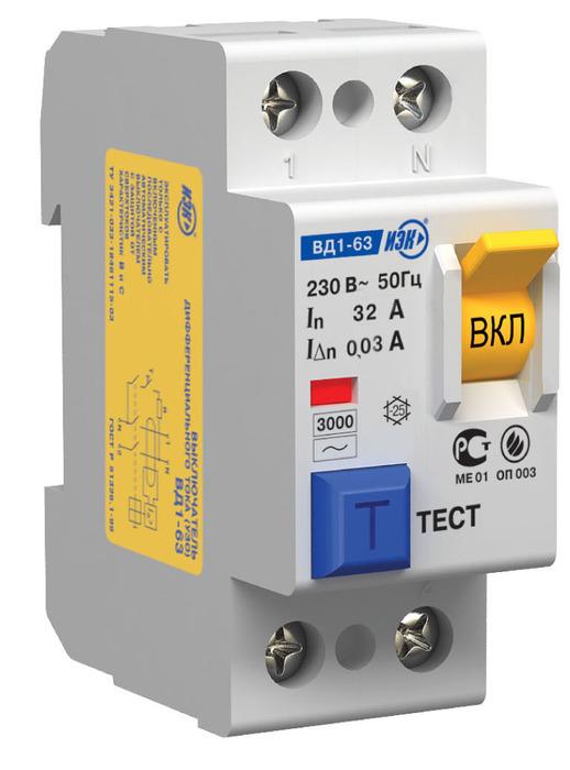 тока ВД1-63 (УЗО) фирмы