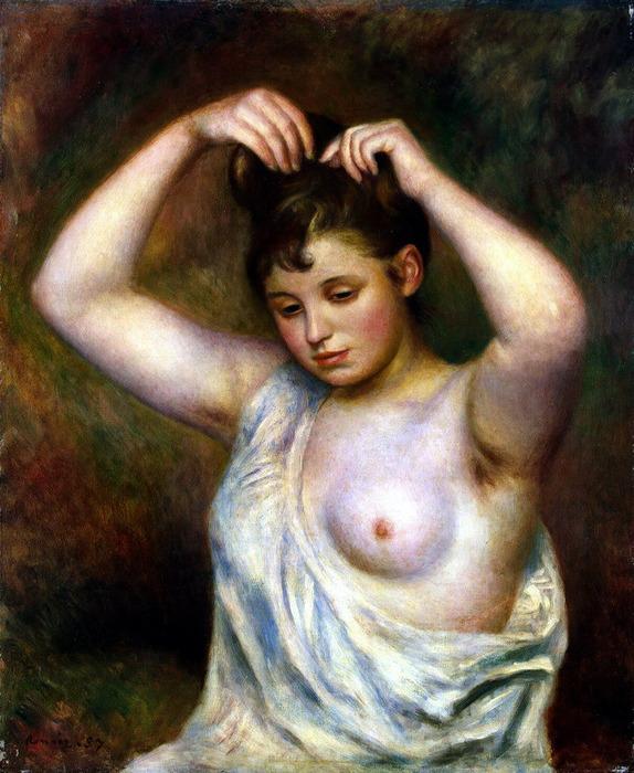 Причесывающаяся женщина (574x700, 145Kb)