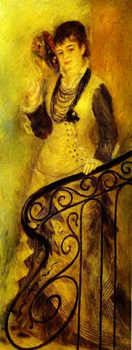 Pierre-Auguste Renoir - Woman on a Staircase (Femme sur un escalier) (264x700, 83Kb)