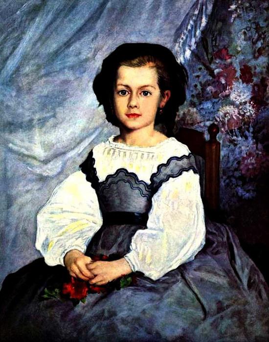 Портрет девушки (Mademoiselle Romaine Lancaux) 1864 (550x700, 123Kb)