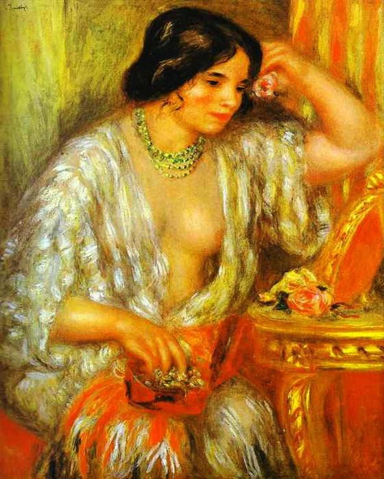 Pierre-Auguste Renoir - Gabrielle with Jewel Box (560x700, 137Kb)