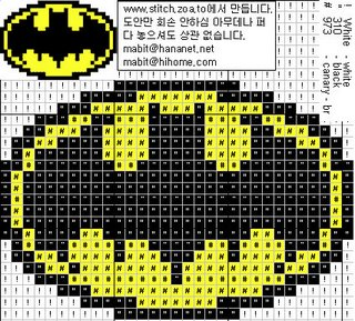 Вышивка крестом схема бэтмен