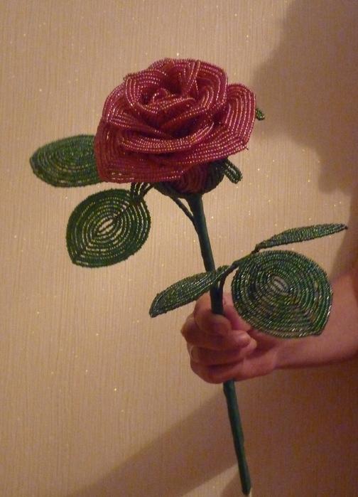 Итак, плетем розочку из бисера MORE.  Плетение лепестков розы.