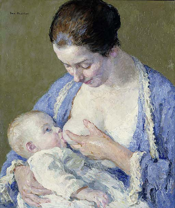 Madre y niño. Julius Garibaldi Melchers .mother-and-child (575x683, 366Kb)