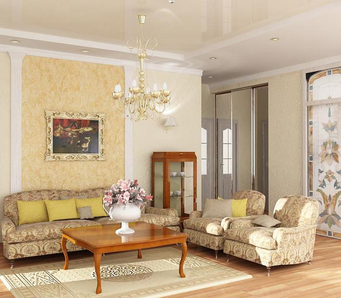 Интерьер гостиной в стиле классика фото