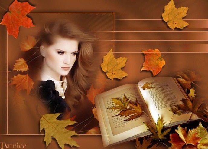 Осень, книга, девушка (688x492, 57Kb)