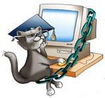 Превью кот ученый у компа (500x466, 52Kb)