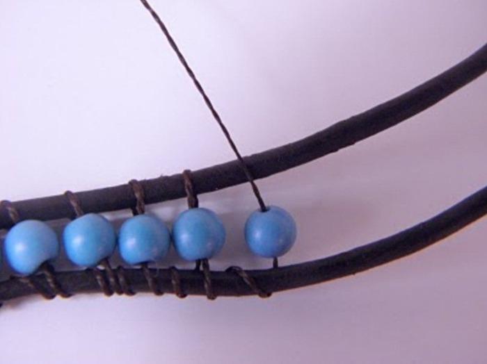 кожаные шнуры пастельных тонов для бижутерии