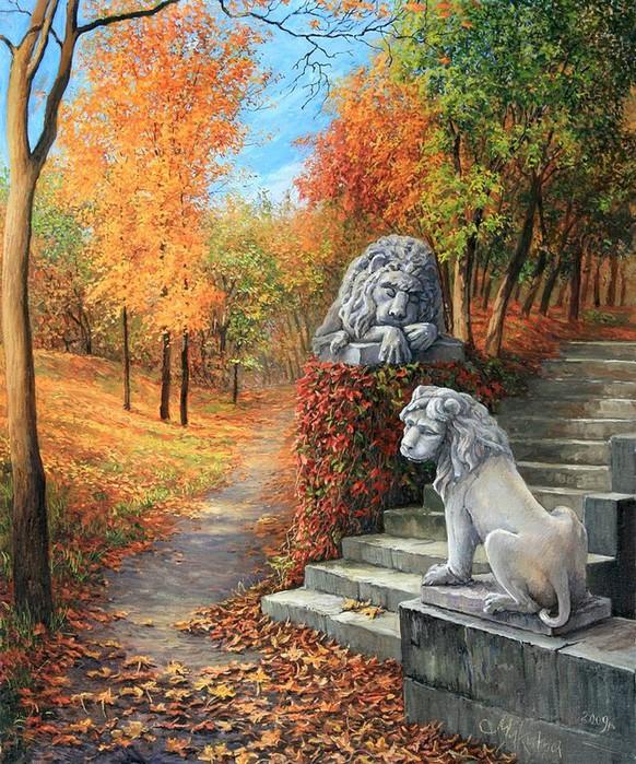 О нашем настоящем и былом.  Я ухожу в осеннюю аллею.  Ольга Дидык Прогулка со львами.  Я... Пускай летят.