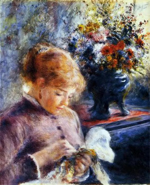 renoir-lady-sewing1879 (567x700, 155Kb)