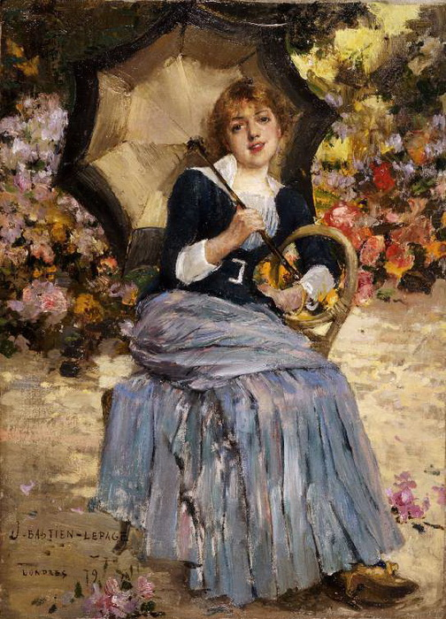 Girl with a Parasol, Jules Bastien-Lepage (504x700, 173Kb)