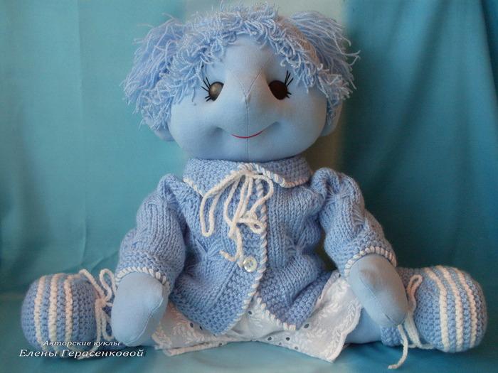 Авторская текстильная кукла. Голубое Чудо Голубой Долины.Елена Герасенкова