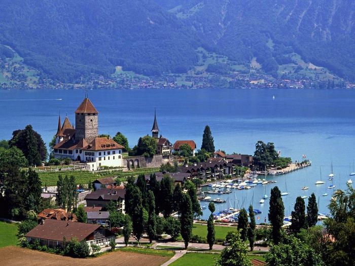 Страна Швейцария поделена на двадцать три кантона