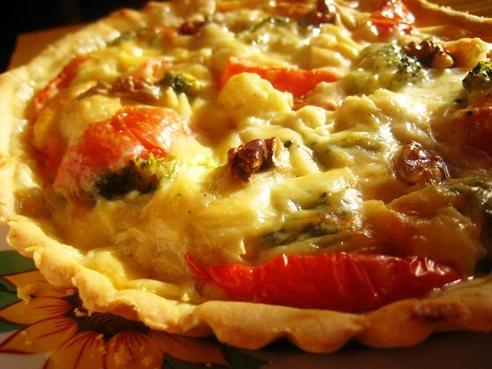 Овощной пирог с сырным соусом (492x369, 43Kb)