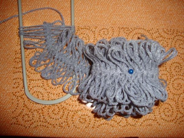 Вязание на вилке. на обычной