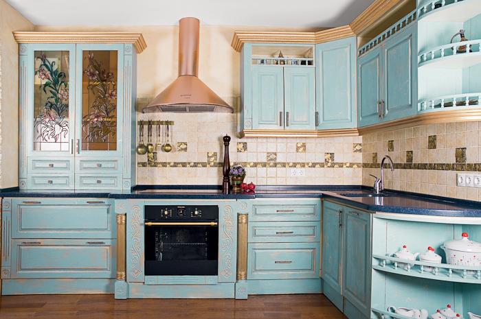 кухня в стиле французский прованс обои.