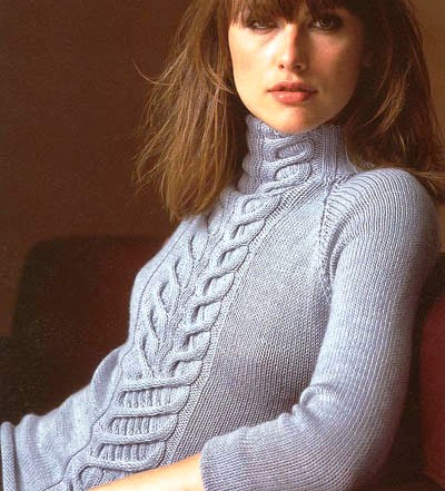 вязание спицами свитера туники