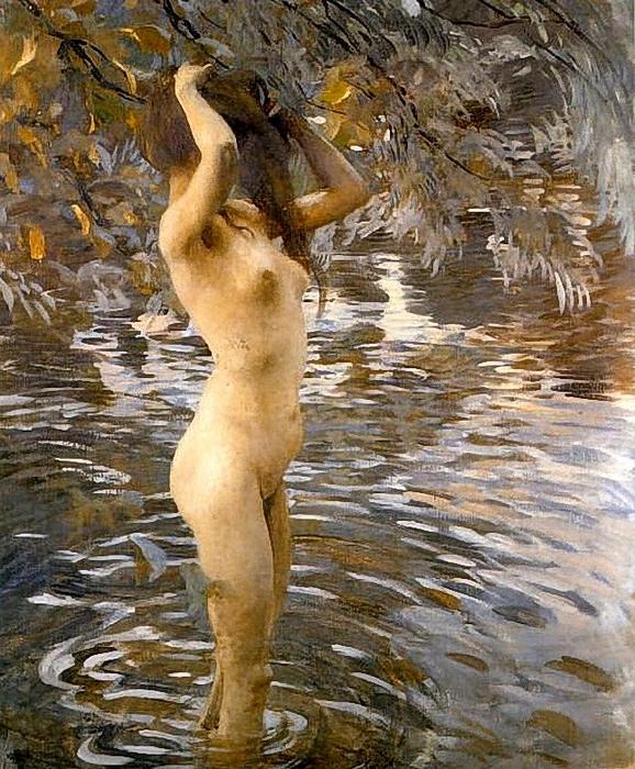 Ettore Tito, Il bagno, 1909 (578x700, 395Kb)