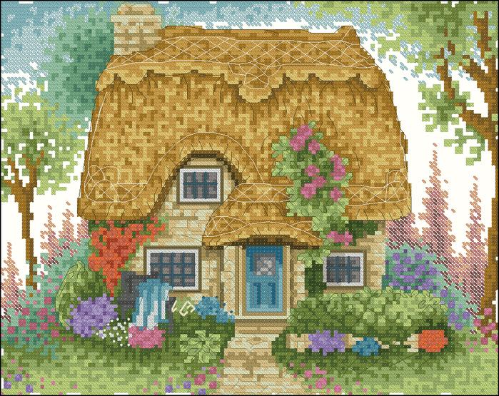 Вышивка крестом схемы домов 88
