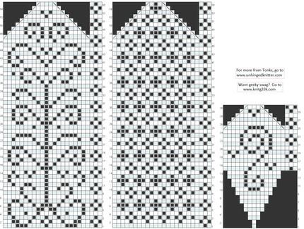 Необычные схемы для варежек.  Прочитать целикомВ.