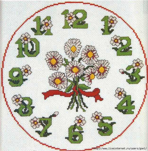 Вышивки крестом маки с ромашками в поле 1