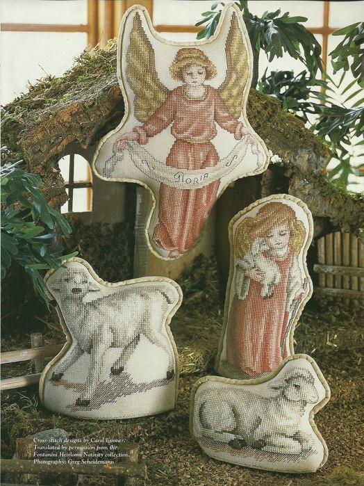 рождественский вертеп схема вышивки