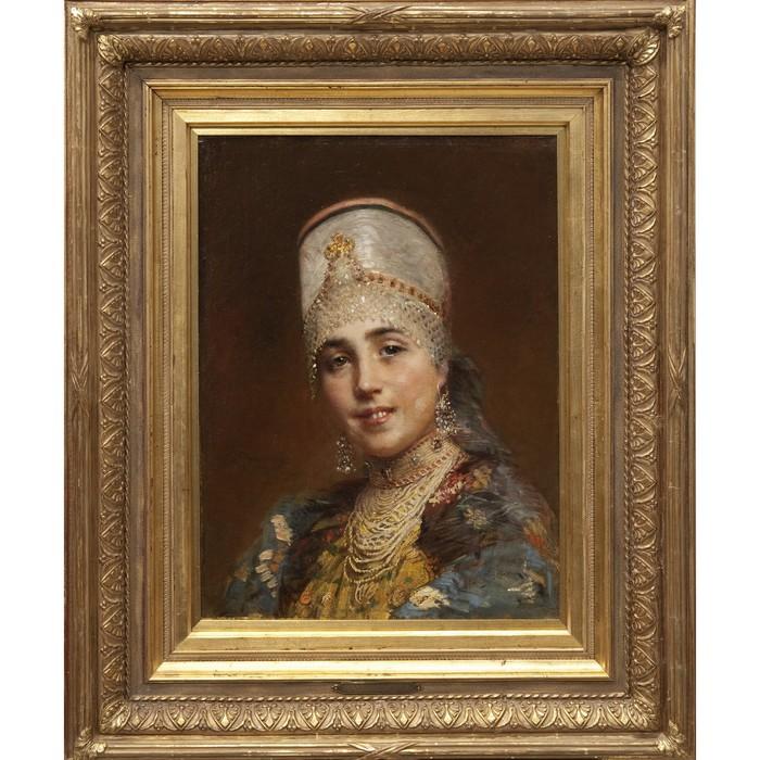 Маковский Константин Егорович 1839-1915. Боярышня (700x700, 139Kb)