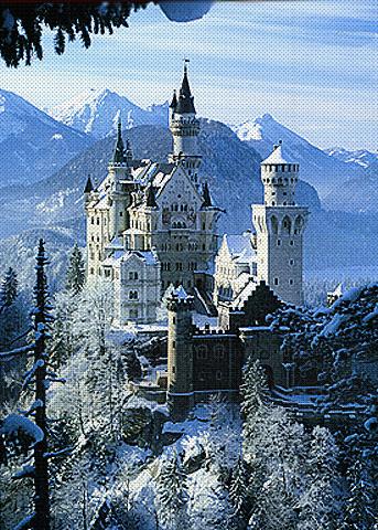 Заснеженный замок (343x480, 210Kb)