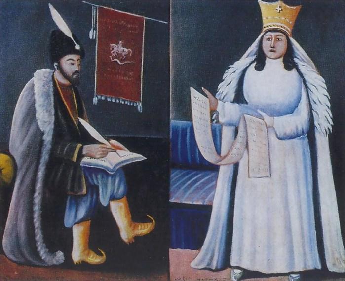 Niko-Pirosmani-Шота-Руставели-и-царица-Тамар.-1914-15-Картон-масло.-ГМИ-Грузии-Тбилиси- (700x570, 97Kb)