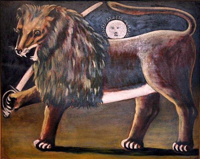 Niko-Pirosmani-Лев-и-солнце.-Иранский-лев.- (700x558, 110Kb)