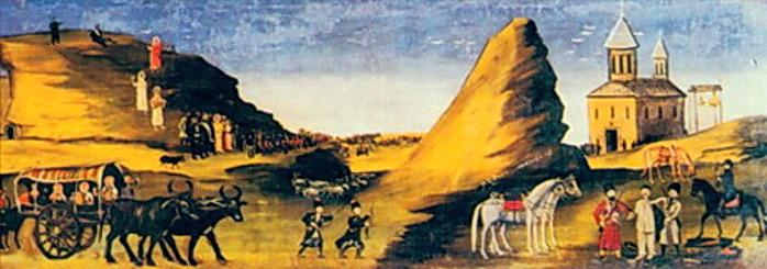 Niko-Pirosmani-Кахетинский-эпос-Алазанская-долина.-08- (700x245, 73Kb)