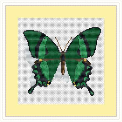 Бабочки вышивка схема.