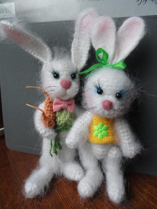 Кролик вязать игрушка